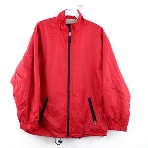 Vintage 90s Gap Streetwear Windbreaker Jacket Red